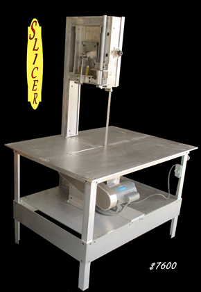 Slicer - industrial veneer mill - vertical woodworking band saw